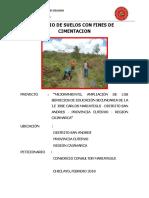 Informe 005 2018 Final - ESTUDIO DE MECANICA DE SUELOS PARA ELABORACION DE EXPEDIENTE TECNICO