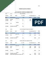 Analisis de Costos Unitarios Baños