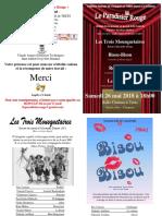 PROGRAMME Paradisier Rouge Théâtre 2018