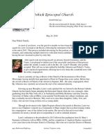 Announcement Letter, Assistant's Search