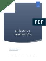 Bitacora de Investigacion