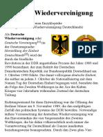 Deutsche Wiedervereinigung – Wikipedia