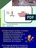 1.-Razonamiento Económico