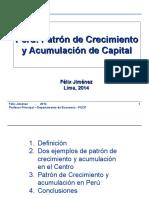 JIMENEZ Perú Patrón de Crecimiento y Acumulación de Capital
