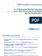 Application of Supervised Machine Learning Techniques