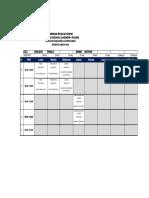 Horarios Examenes Finales 17 17