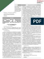 Modifican El Reglamento de La Ley n 23330 Ley Del Servicio Resolucion Ministerial n 047 2018minsa 1611555 2