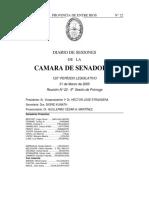 Reunión Nº 22. Cámara de Senadores 31-03-2005 Modificación Ley 9501 López