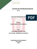TALLER 4;Taller de Programación