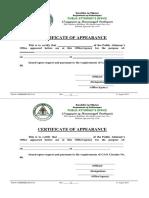 Certificate of Appearance_blank