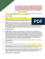 Contractor Agreement Template 2017 Msp Program
