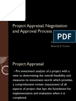 Project Appraisal, Negotiation and Approval Process