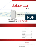 Manual Detektor GPS Portatil GL300