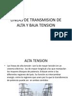 Lineas de Transmision de Alta y Baja Tension