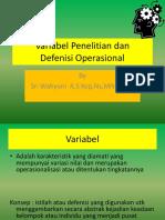Variabel Penelitian dan Def operasional.ppt