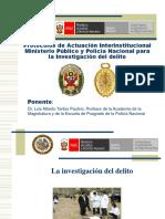 Protocolos de Trabajo Conjunto Entre El Ministerio Público y La Policía Nacional