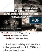 Parameters in Defining the Contract Area for Small