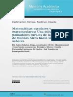 Matematicas Escolares y Extraescolares