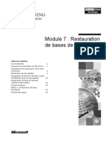 Module7-Restauration de BD