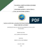 Aplicación de La Radiación Electromagnética en Las Telecomunicaciones Terminado
