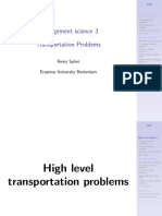 MS3 Transportation Problems