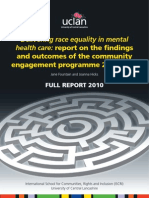 Delivering race equality in mental health care