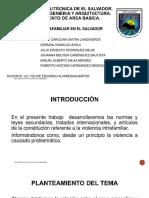 Violencia Intrafamiliar en El Salvador
