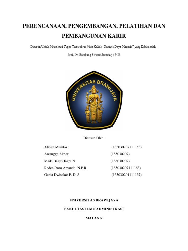 Contoh Cover Makalah Universitas Brawijaya