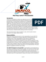 PBO Field Safety Procedures