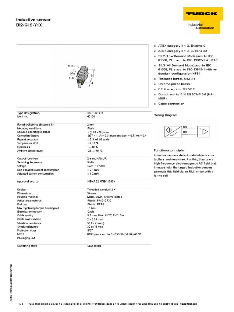 Edb 40100 Gbr En Electrical Components Equipment Turck Sensor Wiring Diagram