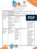 Matriz Resumen y Diagrama Causa Efecto Andres Felipe Rapalino Guerrero