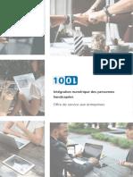 1001 - Offre de service aux entreprises - Intégration numérique des personnes handicapées