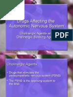 Cholinergic Drugs. Anticholinergic Agents