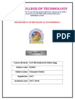 Transport safety syllabus