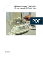 Experiment 4 Determination of Total Solids