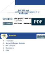 SAP AFS and Warehouse Management Equipme