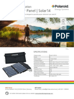 0091 Polaroid Leaflet Solar14 Panel SP14 Eng 1.1