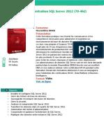 Alphorm Fiche Formation Administration SQL Server 2012 (70 462)