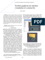 The Use of Pyrosim Graphical User Interface for Fds Simulation of a Cinema Fire