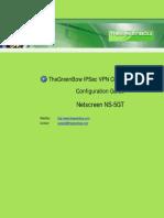 Netscreen NS5GT & GreenBow IPsec VPN Configuration