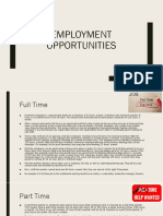 employment opportunities   recruitment   contacts