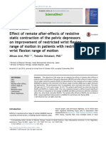 11-4- Effect of Remote After - Effects of Resistive Static Contraction of the Pelvic Depressors on Improvement of Restricted Wrist Flexion Range of Motion in Patients With Restricted Wrist Flexion ROM