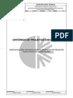 Critérios de Projetos Executivos - 2017