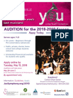 JSYO Auditions Flyer March 2018