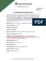Formulario de Instrucciones Bancarias FAO Perú