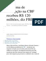 Esquema de Corrupção Na Cbf 06 de Dezmebro de 2015