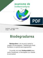 Mecanisme de Biodegradare -Prezentare 2