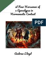 Jesus and Four Horsemen of the Apocalypse in Hermeneutic Context