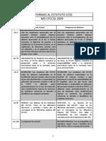Reformas Del Estatuto Pendientes de La MD 2009