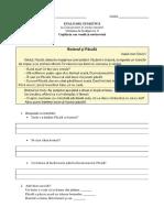 Evaluare Sumativă CLR U8